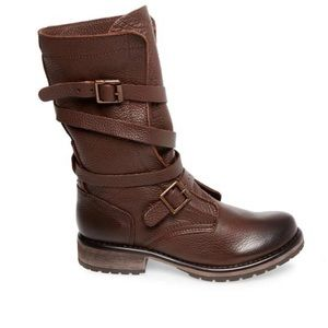 Steve Madden leather bandit boots in brown